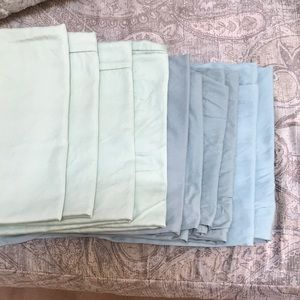 Other - Ten pillowcases in shades of green